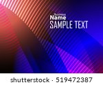 blue abstract template for card ... | Shutterstock .eps vector #519472387
