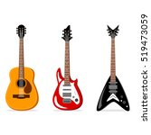 acoustic and electric guitars... | Shutterstock .eps vector #519473059