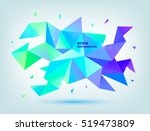 vector abstract colorful blue ... | Shutterstock .eps vector #519473809