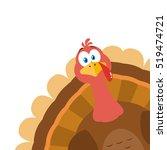 thanksgiving turkey bird... | Shutterstock .eps vector #519474721