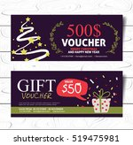 christmas and new year hand... | Shutterstock .eps vector #519475981