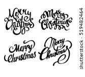 christmas banners. merry... | Shutterstock .eps vector #519482464