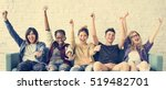 diversity students friends... | Shutterstock . vector #519482701