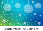 light blue green christmas... | Shutterstock .eps vector #519484579