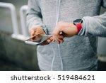 modern sport and running... | Shutterstock . vector #519484621