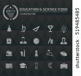 education science icons vector   Shutterstock .eps vector #519485485