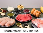 different types of healthy... | Shutterstock . vector #519485755