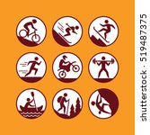 outdoor activities icons set. | Shutterstock .eps vector #519487375