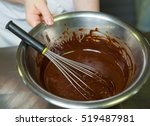 A Metal Bowl And Whisk With...