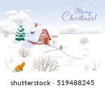 Winter Rural Landscape With...