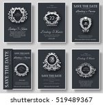 set of luxury flyer pages set... | Shutterstock .eps vector #519489367