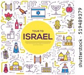 country israel travel vacation... | Shutterstock .eps vector #519489379
