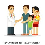family doctor concept with... | Shutterstock .eps vector #519490864