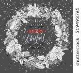 christmas wreath.christmas... | Shutterstock .eps vector #519493765