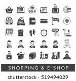 set of e commerce icons.... | Shutterstock .eps vector #519494029
