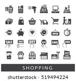 set of shopping icons. premium... | Shutterstock .eps vector #519494224