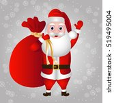 Santa Claus And Bag With Gifts...