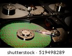 close up of computer hard drive ... | Shutterstock . vector #519498289
