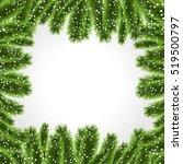 christmas tree frame christmas... | Shutterstock .eps vector #519500797