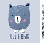 little bear head drawing for... | Shutterstock .eps vector #519501319