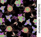 hand drawn dark seamless...   Shutterstock .eps vector #519502741