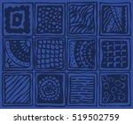 vector seamless ethnic... | Shutterstock .eps vector #519502759