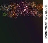 festive colour firework...   Shutterstock .eps vector #519503041