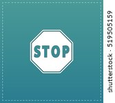 stop. white flat icon with... | Shutterstock .eps vector #519505159