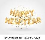metallic gold letter balloons ... | Shutterstock .eps vector #519507325