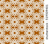 vector pattern design  floral... | Shutterstock .eps vector #519509401