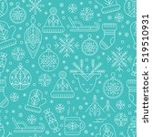 winter seamless pattern with... | Shutterstock .eps vector #519510931