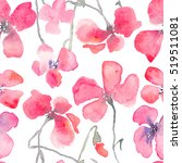 watercolor floral background... | Shutterstock . vector #519511081