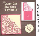lasercut vector wedding... | Shutterstock .eps vector #519512635