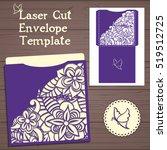 lasercut vector wedding... | Shutterstock .eps vector #519512725