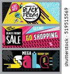 black friday flat design sale... | Shutterstock .eps vector #519515569