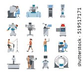 bionic icons with surgical and... | Shutterstock . vector #519517171