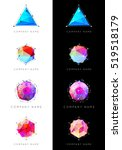 set of geometric shapes unusual ... | Shutterstock .eps vector #519518179