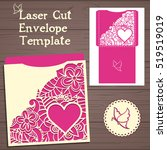 lasercut vector wedding...   Shutterstock .eps vector #519519019