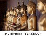 Row Of Golden Buddha In...