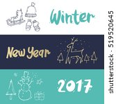 merry christmas and happy new... | Shutterstock .eps vector #519520645