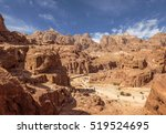 Panorama Of Petra In Jordan  ...