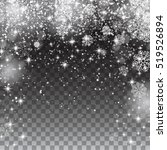 snow snowflakes on a... | Shutterstock .eps vector #519526894