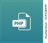 php file extension. white flat...