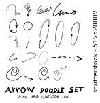 vector hand drawn arrows set   Shutterstock .eps vector #519528889