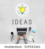 ideas lightbulb innovation...   Shutterstock . vector #519531361