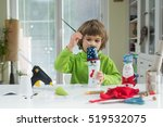 little boy being creative... | Shutterstock . vector #519532075