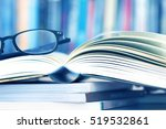 close up opened book page and... | Shutterstock . vector #519532861