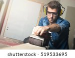 carpentry workshop routine. | Shutterstock . vector #519533695
