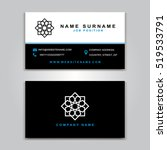 business vector card creative... | Shutterstock .eps vector #519533791