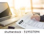 businessman or job seeker... | Shutterstock . vector #519537094